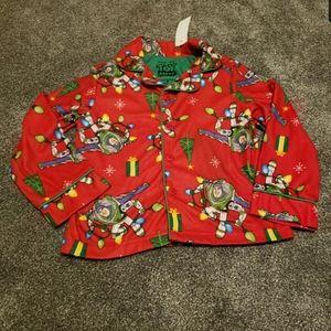 NWT Buzz Lightyear Christmas Light Pajama Top 6